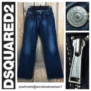 DSQUARED2 Wide Leg jean size Italy 44/USA 28